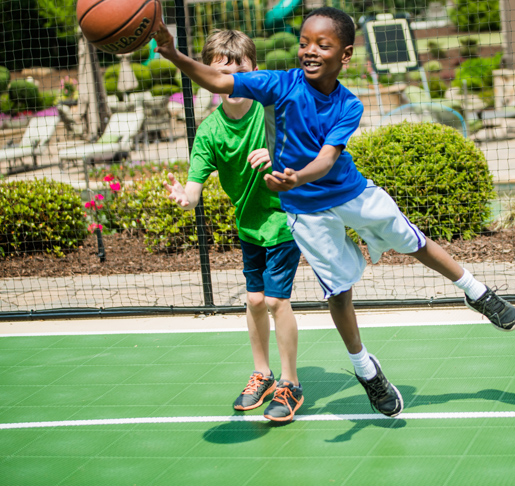 backyard court sport flooring