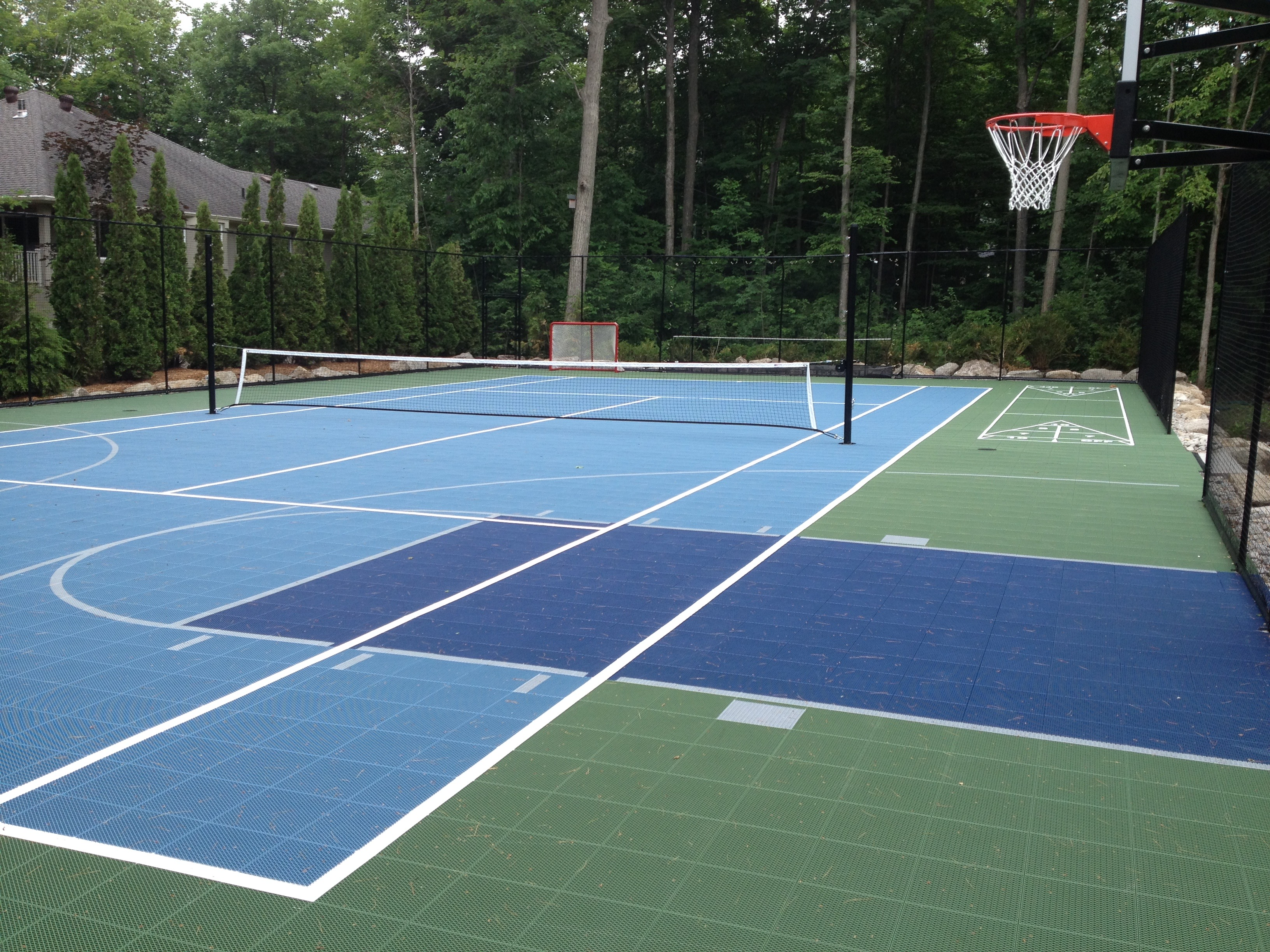 Sport Court Outdoor Tennis Court