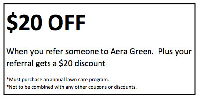 $20 discount on lawn care servcies for referral