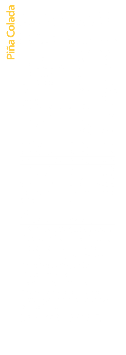 Piña Colada Nutrition Facts