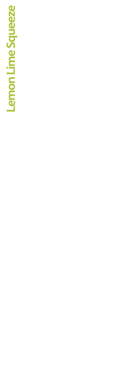 Lemon Lime Sqeeze Nutrition Facts