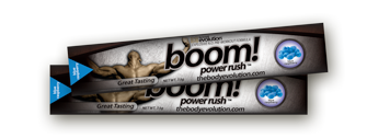 Blue Raspberry BOOM Power Rush Protein