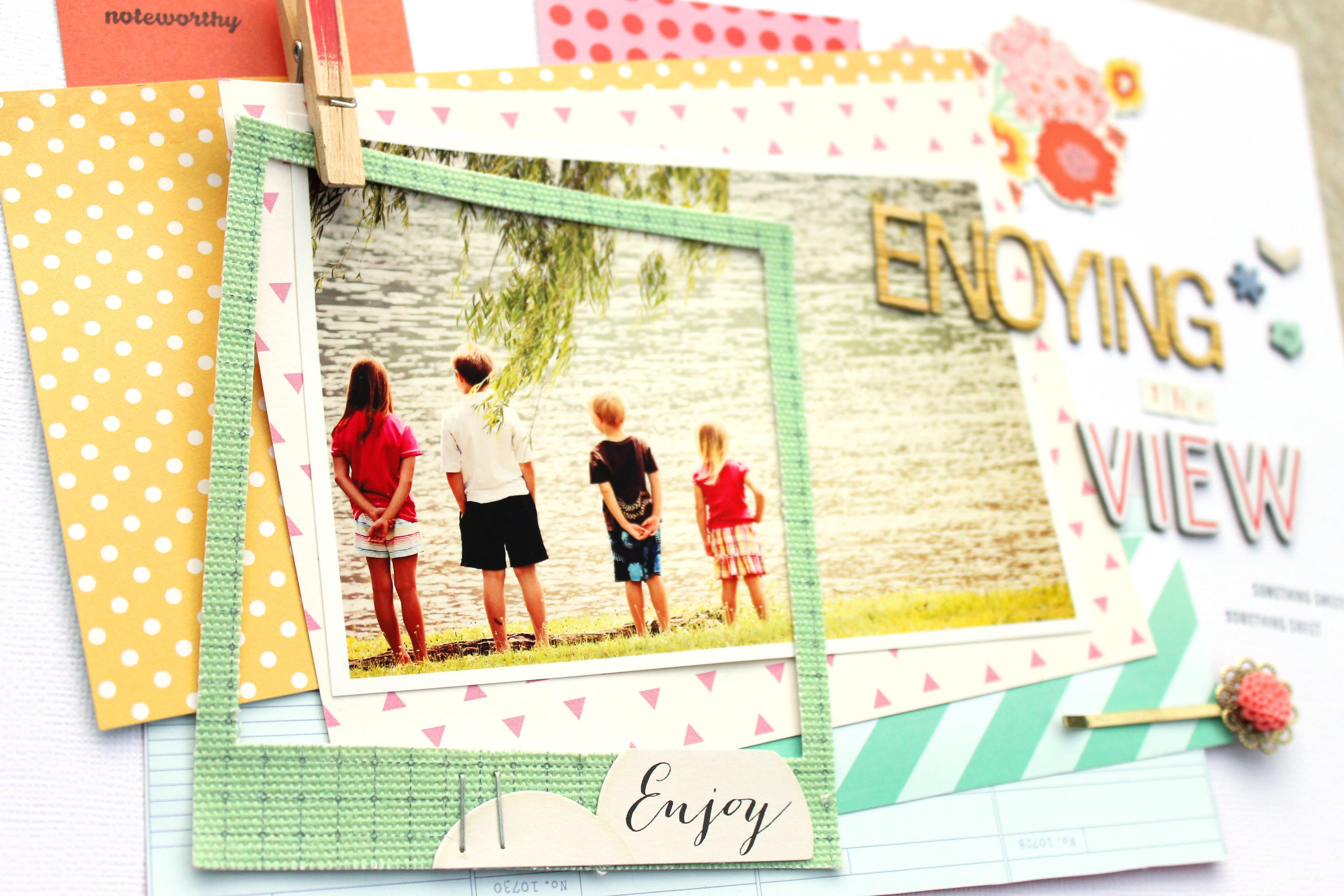 Make your layout shine #scrapbooking