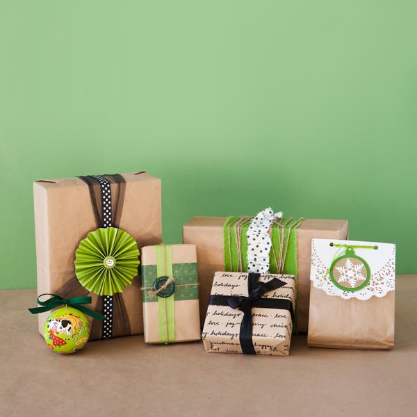 Brown Paper Gift Wrap Ideas