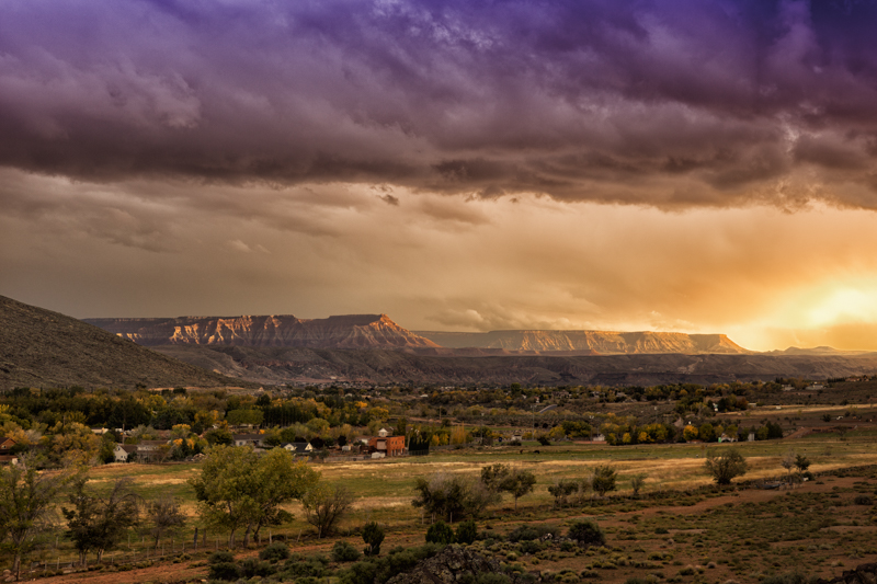 Mesa Storm - BlueDesertPhoto