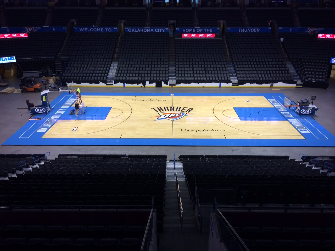 Connor Sports Installs QuickLock Portable for NBA's OKC Thunder