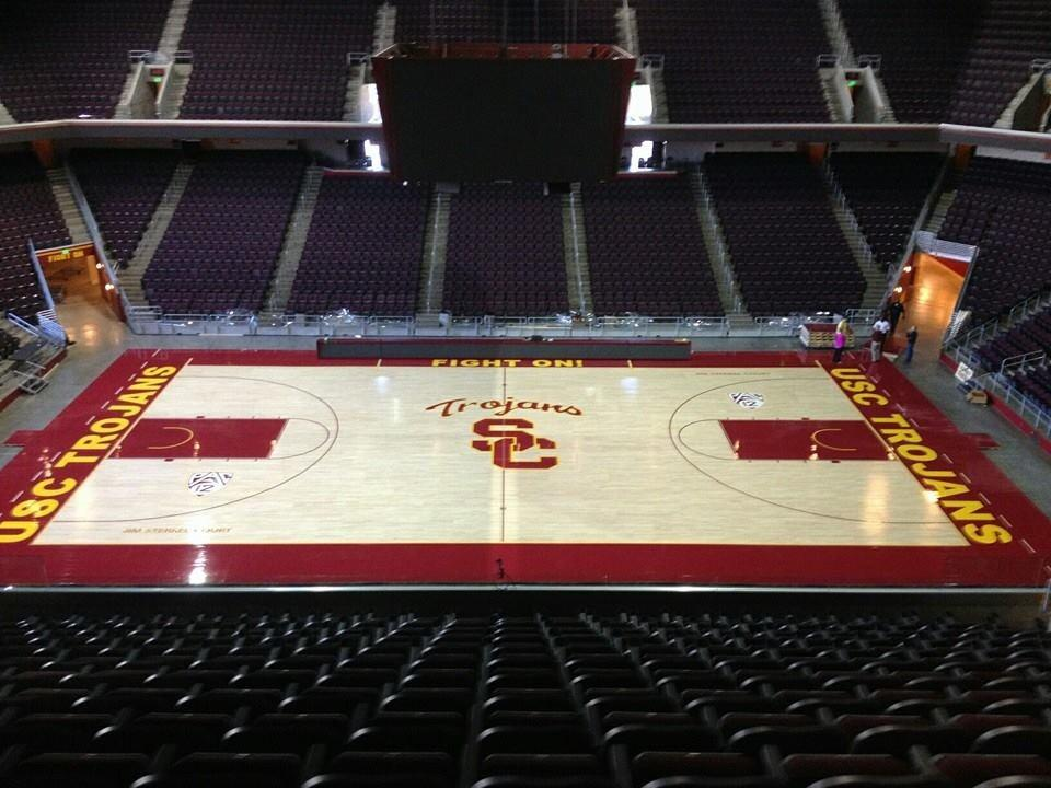 USC Trojans Upgrade to a Connor Sports QuickLock Portable Basketball Court