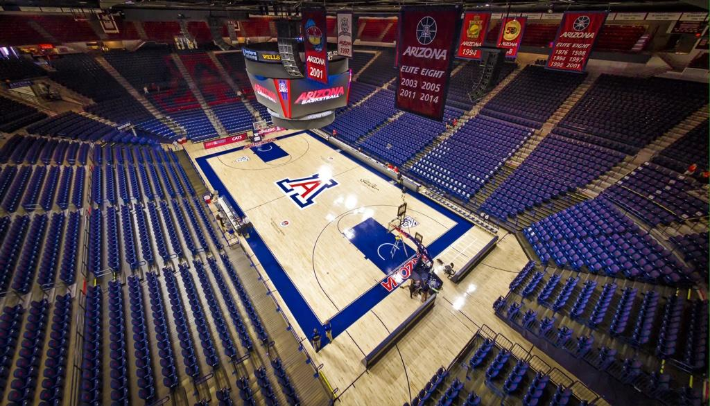 Renovation of McKale Center at University of Arizona Completed with New Connor Sports Basketball Court