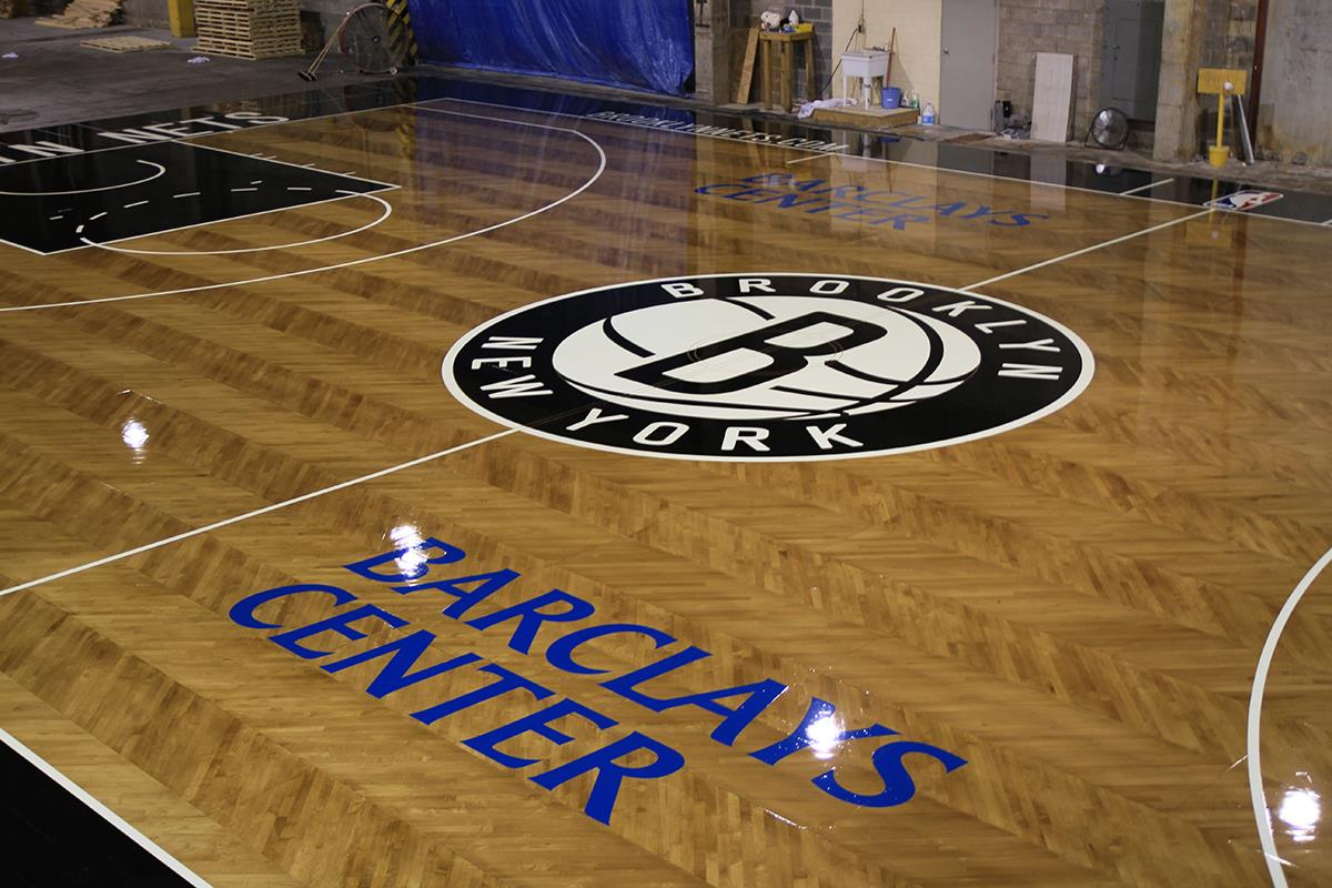 Brooklyn Nets hardwood basketball court by Connor Sports