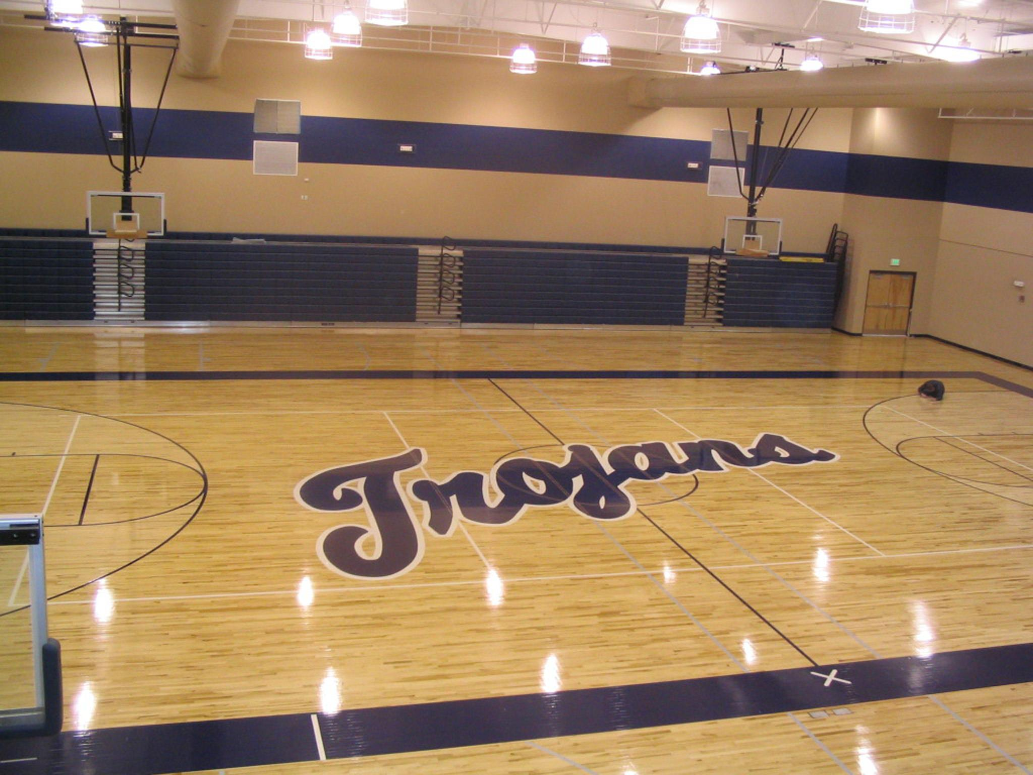 high school gymnasium flooring by Connor Sports