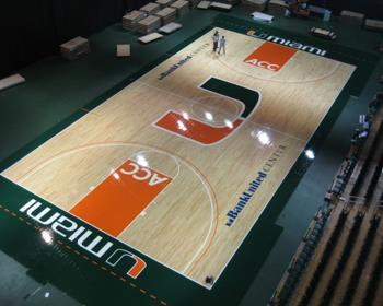 NCAA Basketball Arena Flooring