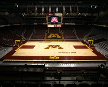 Minnesota Basketball Areana Flooring