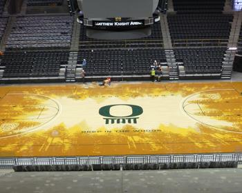 Oregon Ducks Basketball Court