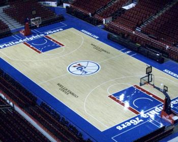 NBA - Philidelphia 76ers Basketball Court