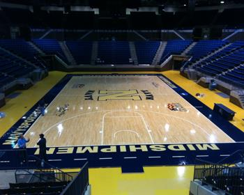 Navy Basketball Court