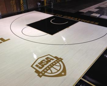USA Basketball Basketball Court