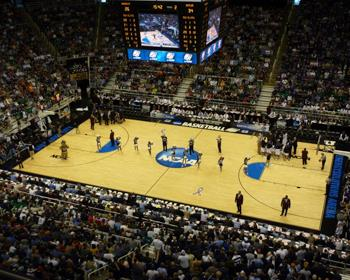 NCAA Regional Basketball Court