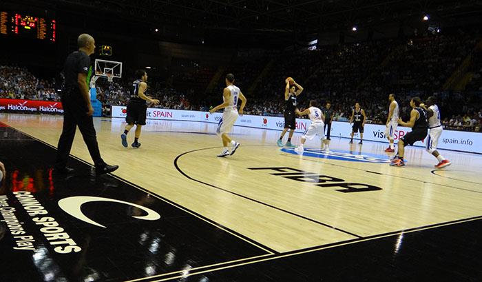 Argentina vs. Puerto Rico on the Connor Sports hardwood at #Spain2014