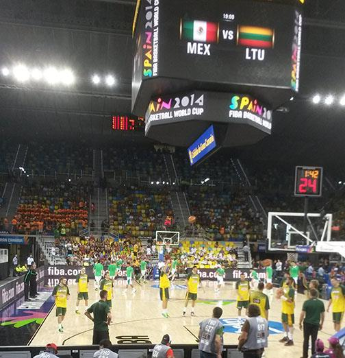 MEX vs LTU in Gran Caneria on Connor Sports Hardwood