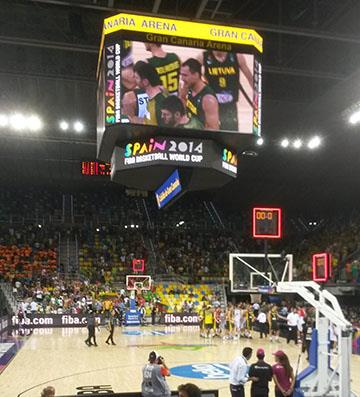 Gran Caneria Hosts the 2014 FIBA Basketball World Cup on Connor Sports basketball courts
