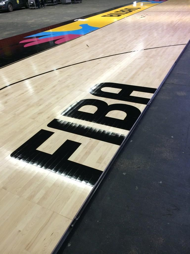 Bilbao city markings in place for the 2014 FIBA Basketball World Cup