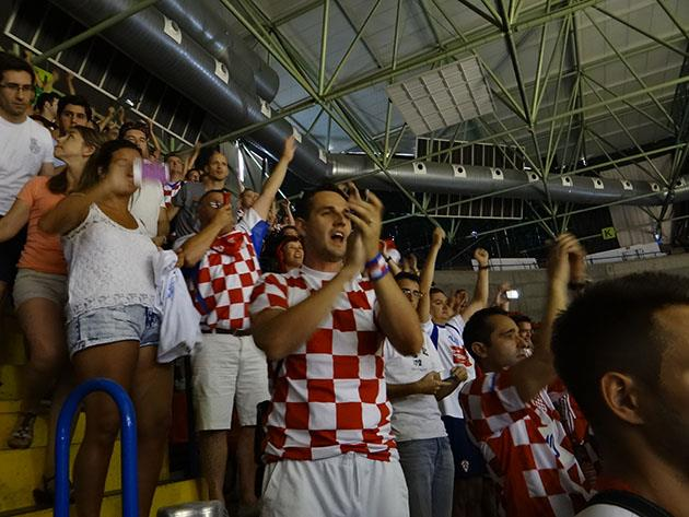 Croatia fans Celebrate a Victory for their Country on the #OfficialCourt of #Spain2014
