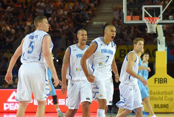Finland win's first ever World Cup game on Connor Sports basketball court #OfficialCourt of FIBA
