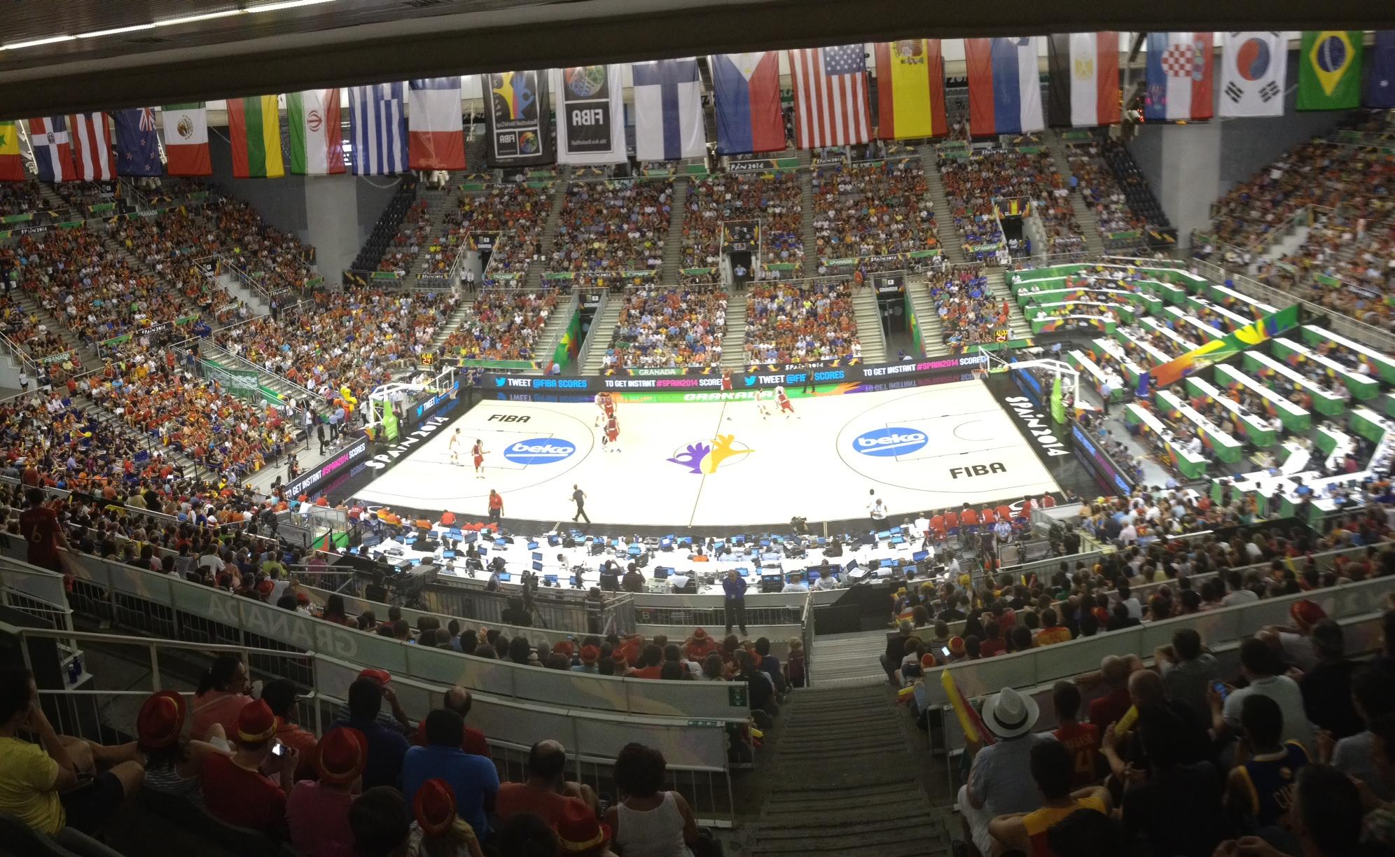 Packed House for Spain in Granada on the #OfficialCourt