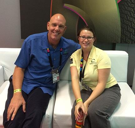 Gary Gray in the FIBA World Cup Lounge with Val