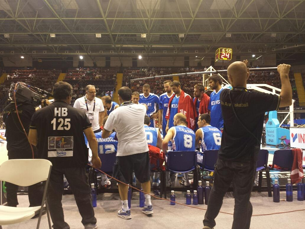 Greece stratagizes a win on the #OfficialCourt in the FIBA Basketball World Cup