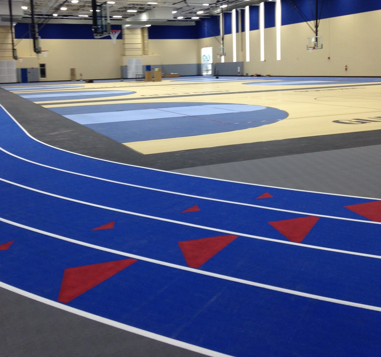 High School Field House Flooring by Connor Sports Traction Systems