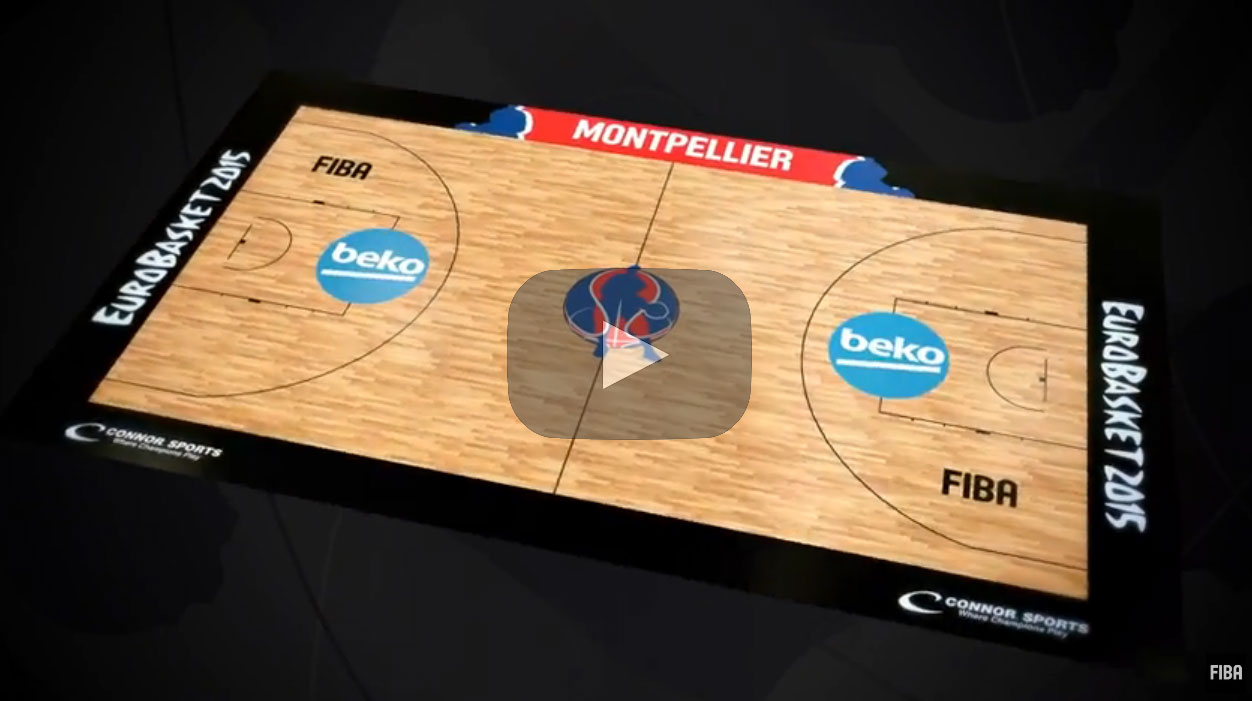 FIBA Europe and Connor Sports Unveiled the Five Official Courts for EuroBasket 2015