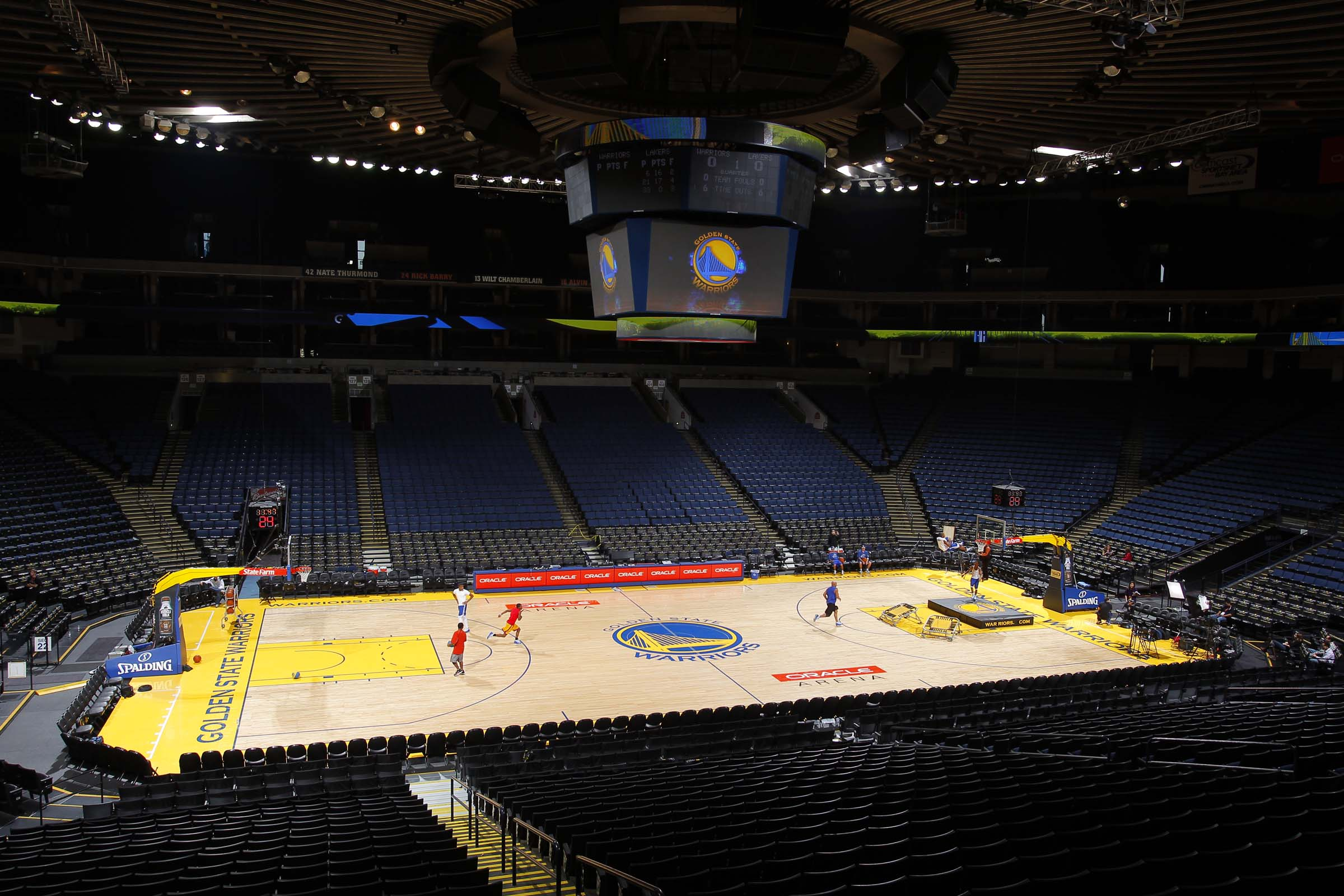Connor Sport's Golden State Warriors Court
