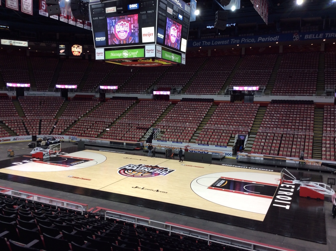 Champions of Sport: Connor Sports, Praters Flooring and the Horizon League Unveil Tournament Court at Joe Louis Arena