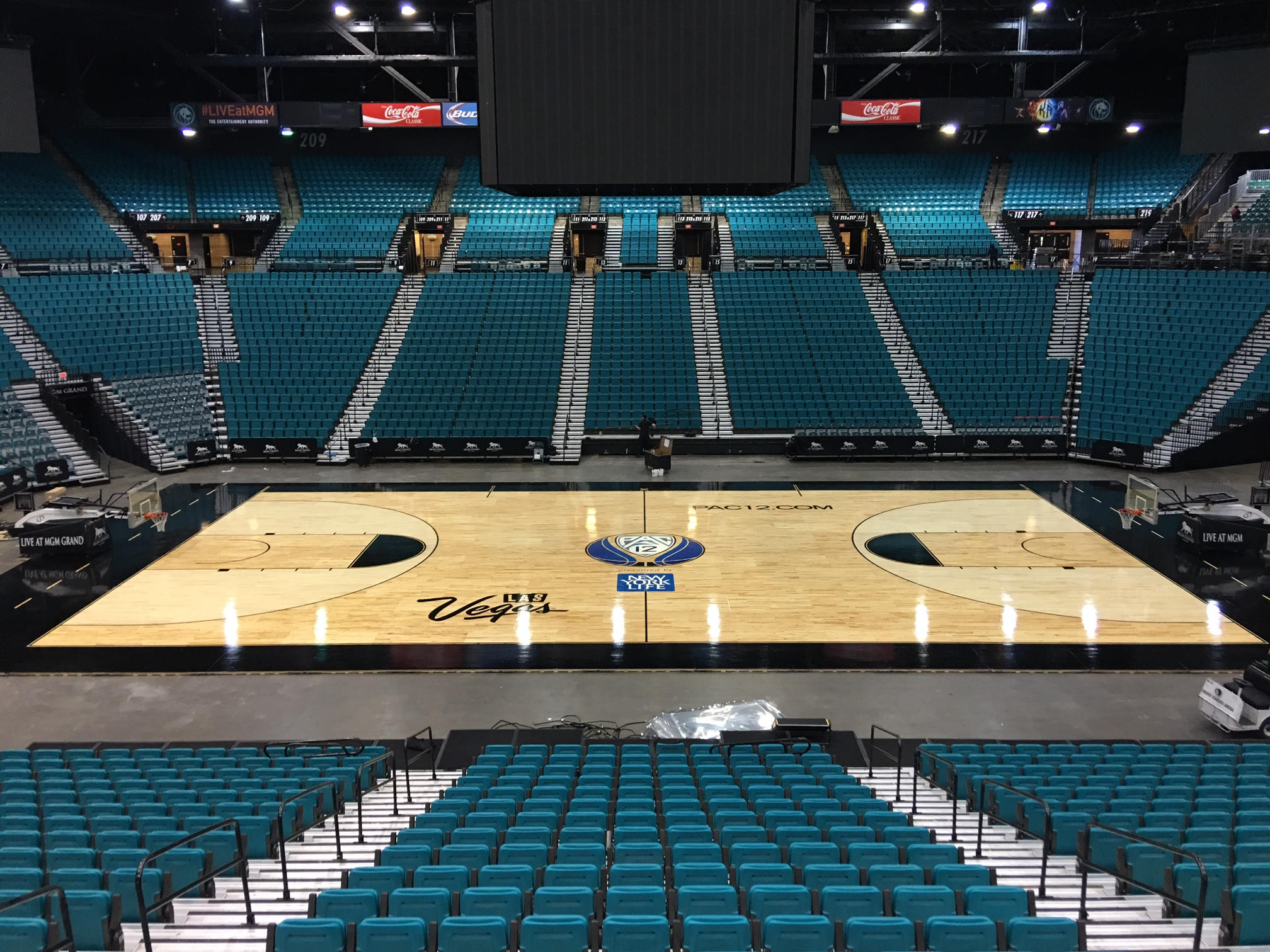 PAC 12 Conference Tournament Basketball Court