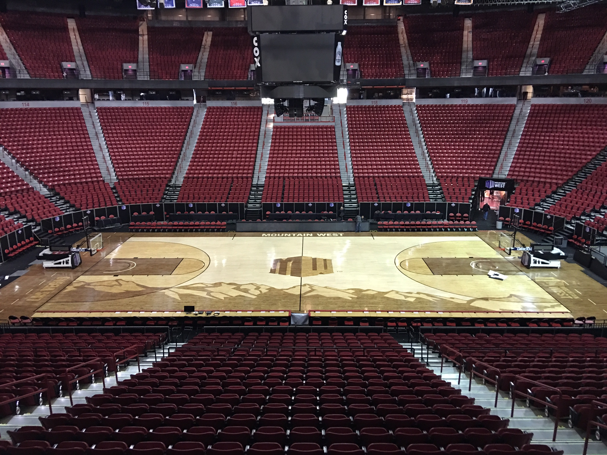 Mountain West Conference Men's Basketball Court
