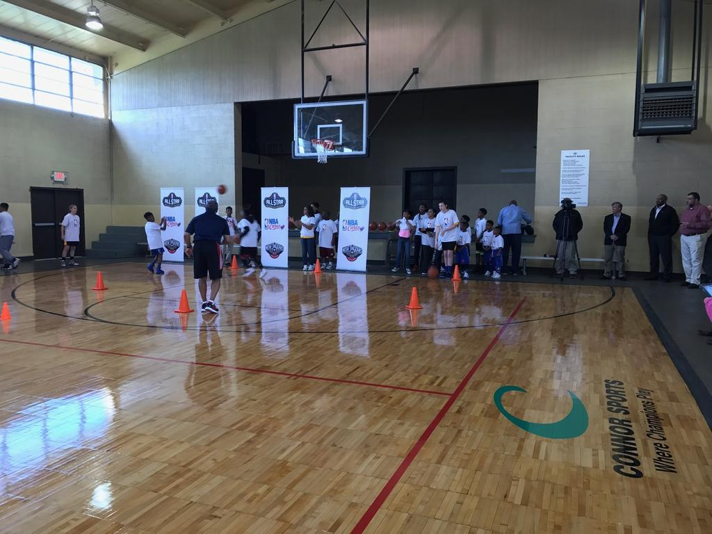 Connor Sports Partners with Recreation and Park Commission for the Parish of East Baton Rouge (BREC) and NBA Cares to Refurbish a Basketball Court in Louisiana