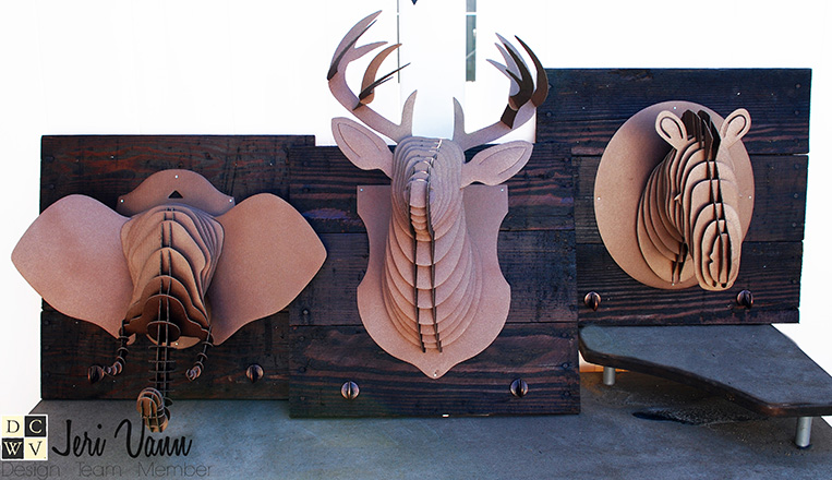 DIY Reclaimed Pallet Wood Animal Head Wall Decor