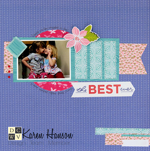Love bright colors? Karen has got the layout for you!