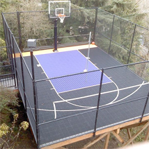 small backyard basketball court