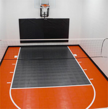 indoor home basketball and volleyball court
