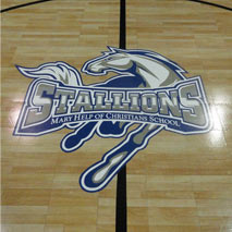 Maple Select with Stallions Logo Basketball Court by Maple Select