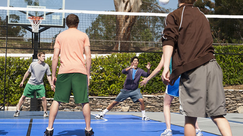 Up to 15 sports - Sport Court backyard volleyball