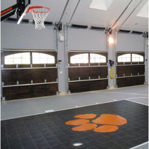 Indoor Basketball Court Flooring with Custom Logo