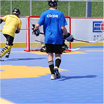 Roller Hockey on Sport Court Athletic Tiles