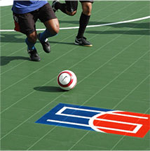 Indoor Soccer on Sport Court Athletic Tiles