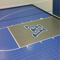 Athletic Sport Tiles Custom Logo by Sport Court West