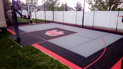 Photo gallery sport court basketball courts flooring for Outdoor basketball court template