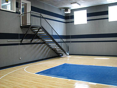 Indoor Home Basketball Court Builder and Accessories
