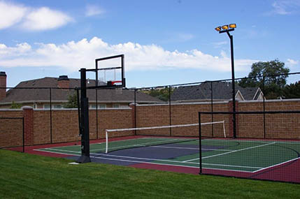 Photo gallery sport court basketball courts flooring for Home sport court